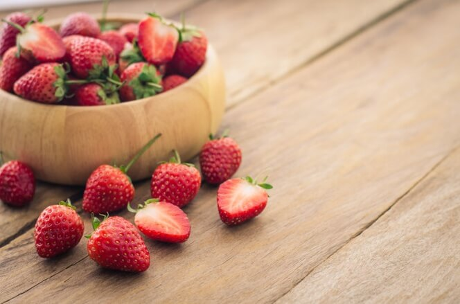 Allow strawberries to dry