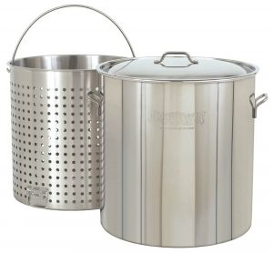 Bayou Classic Stainless Steel Stockpot with Perforated Basket