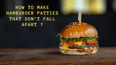 How to make hamburger patties that don't fall apart
